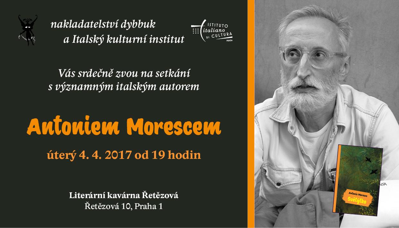 """Antonio Moresco, a Praga il 4 e 5 aprile per presentare il suo """"Světýlko"""""""