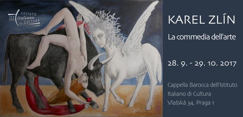 """""""La commedia dell'arte"""", mostra di opere di Karel Zlín."""